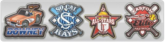 Printed Baseball Trading Pins